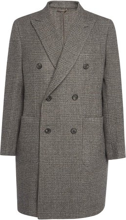 Brioni Double Breasted Wool Coat