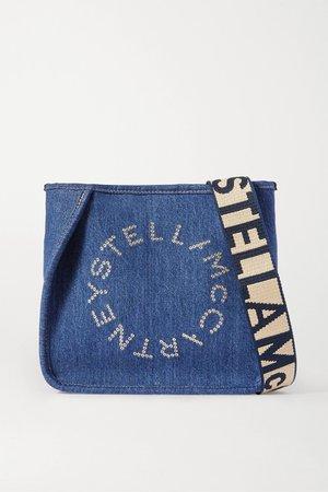 Blue Eyelet-embellished denim shoulder bag | Stella McCartney | NET-A-PORTER