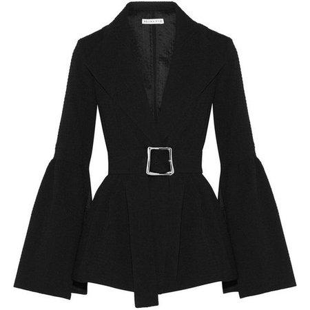 Rejina Pyo Claire belted cloqué blazer