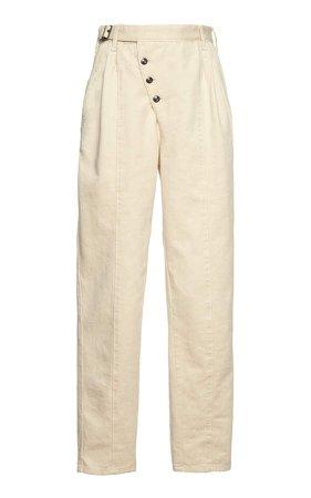 Etro Asymmetric Cotton-Twill Tapered Pants