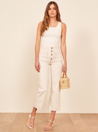 Eloise High Rise Wide Leg Jeans - Sustainable Denim | Reformation