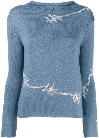 barbed wire sweatshirt