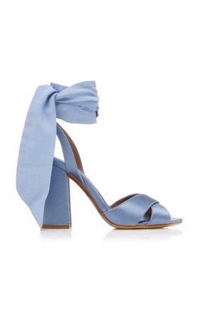 Connie Silk Satin Sandals by Tabitha Simmons x Johanna Ortiz | Moda Operandi