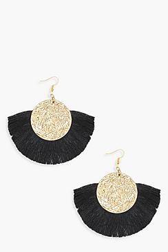 Ressa Coin Tassel Earrings