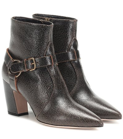 Leather Ankle Boots - Miu Miu | Mytheresa