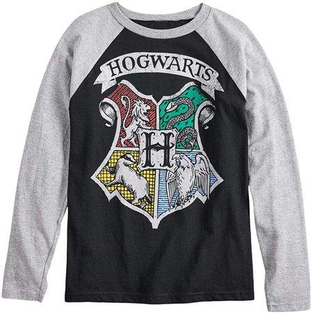 Amazon.com: Harry Potter Hogwarts Crest Boys Girls Long Sleeve Shirt (L (14/16)): Clothing