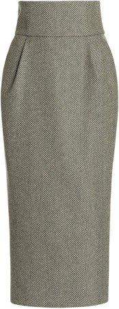 Alexandre Vauthier High-Rise Wool Pencil Skirt