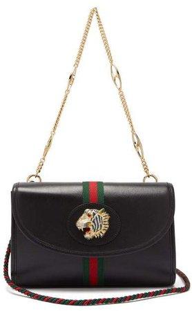 Rajah Small Leather Cross Body Bag - Womens - Black Multi