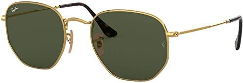 Amazon.com: Ray-Ban RB3548N Hexagonal Flat Lenses Sunglasses, Black/Polarized Green, 54 mm: Shoes