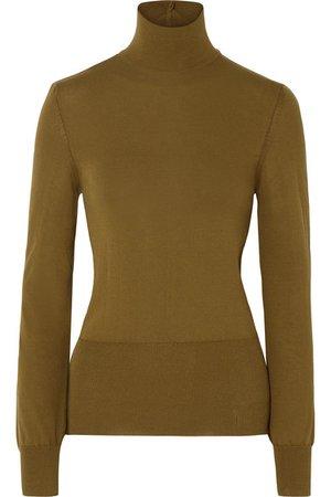 Jacquemus   Baya cutout cotton-blend turtleneck sweater   NET-A-PORTER.COM