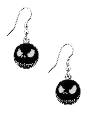 Nightmare Before Christmas Earrings Black - Buy Online at Grindstore.com