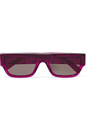 Stella McCartney | D-Frame crystal-embellished bio-acetate sunglasses | NET-A-PORTER.COM