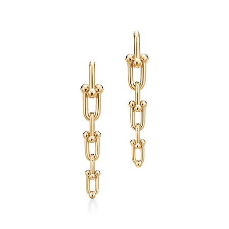 Tiffany HardWear graduated link earrings in 18k gold. | Tiffany & Co.