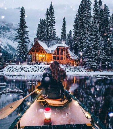 winter cabin pinterest - Google Search