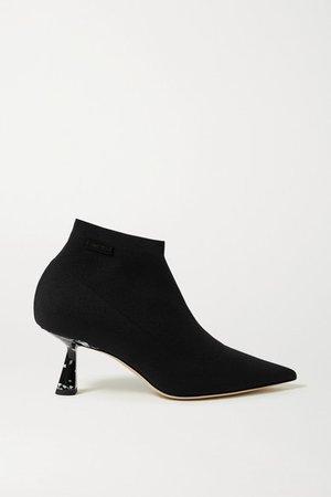 Saber 65 Stretch-knit Ankle Boots - Black