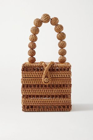 Eos Rattan Tote - Camel