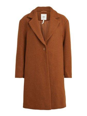 Single-breasted wool blend coat   VILA
