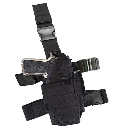 Amazon.com : Terrernce Molle Tactical Pistol Thigh Gun Holster, Drop Leg Holster, Right Hand Adjustable : Sports & Outdoors