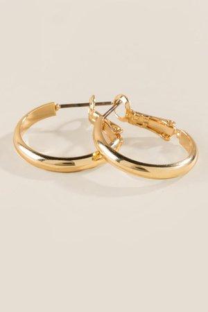 Eda Small Gold Hoops | francesca's