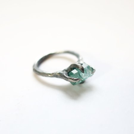 Blue Apatite Crystal Ring – Mary Gallagher
