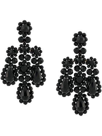 Black Simone Rocha Statement Drop Earrings | Farfetch.com