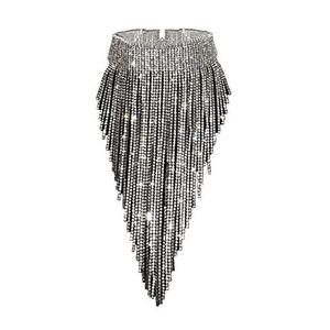 Choker Necklace  Diamond Silver