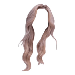 Blonde Rose Gold Pink Hair PNG