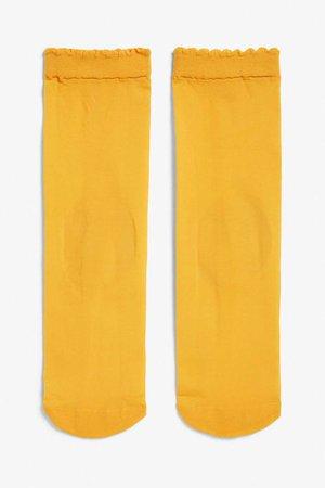 Sleek socks - Pumpkin pie - Socks & Tights - Monki GB