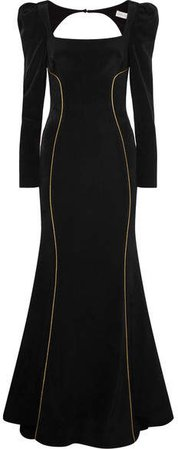 Ivy Crepe Gown - Black