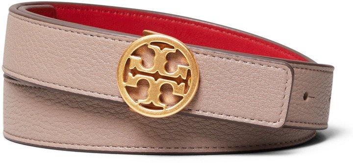 T-Logo Reversible Leather Belt