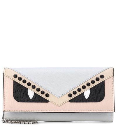 Wallet On Chain leather shoulder bag