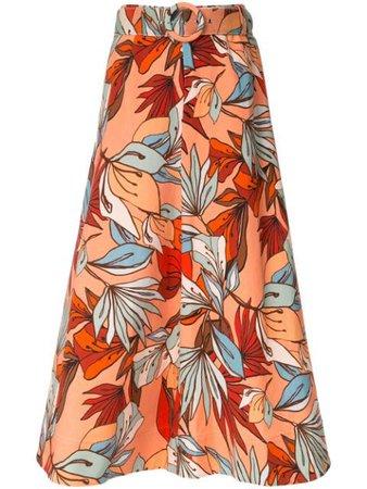 Nicholas A-line Floral Skirt - Farfetch