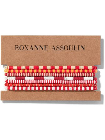 Roxanne Assoulin Color Therapy® Red Bracelet Set - Farfetch