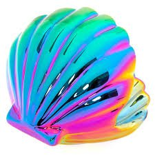 mermaid shell rainbow