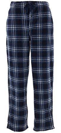 JONATHAN K  1 Men's Plaid Fleece Pajama Pants