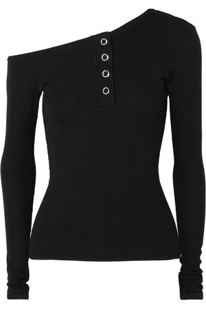 The Line By K   Harley off-the-shoulder ribbed-jersey top   NET-A-PORTER.COM