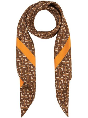 Burberry monogram-print Scarf - Farfetch
