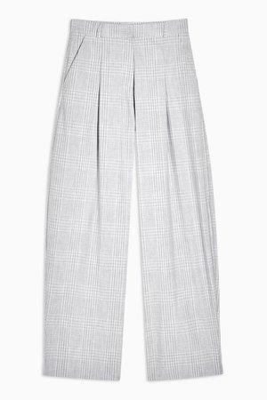 **Grey Check Peg Trousers By Topshop Boutique | Topshop