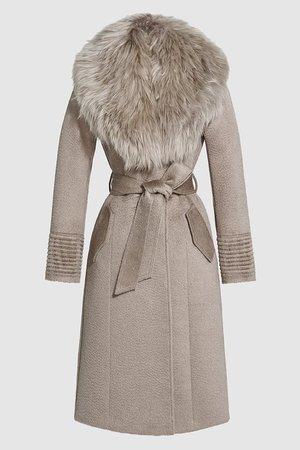 Suri Alpaca Long Coat with Fur Collar – SENTALER