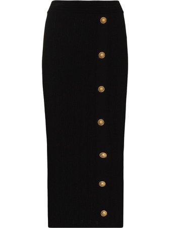 Balmain six button midi skirt - FARFETCH