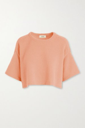 Peach Cropped cashmere sweater | LAPOINTE | NET-A-PORTER
