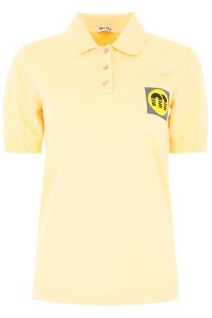 Miu Miu Logo Patch Polo Shirt – Cettire