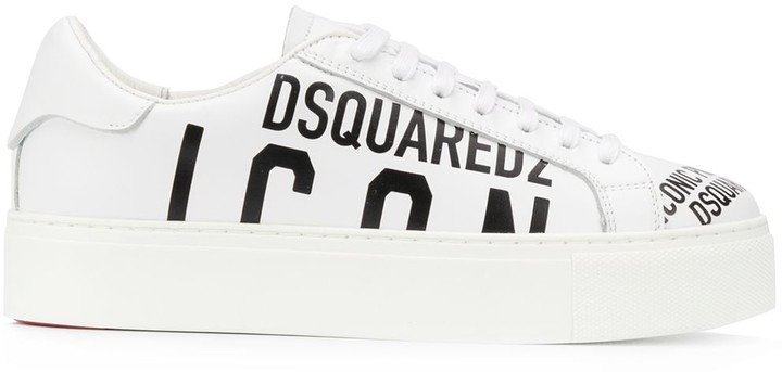 Logo Print Lace-Up Sneakers
