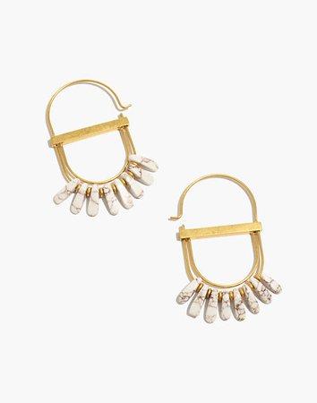 Beaded Fringe Statement Earrings