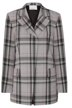 3.1 Phillip Lim | Checked twill blazer | NET-A-PORTER.COM