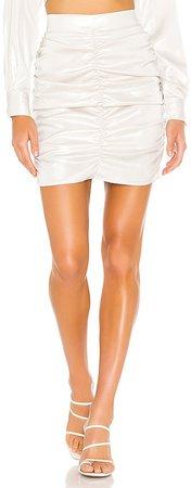 Gloss Ruching Mini Skirt