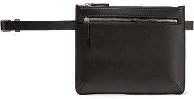 Leather Belt Bag - Black