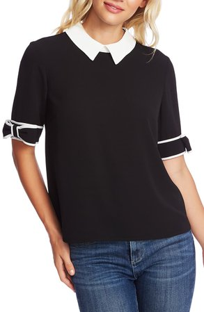 CeCe Bow Cuff Collar Blouse | Nordstrom