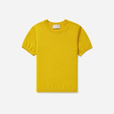 Women's Cashmere Tee   Everlane yellow