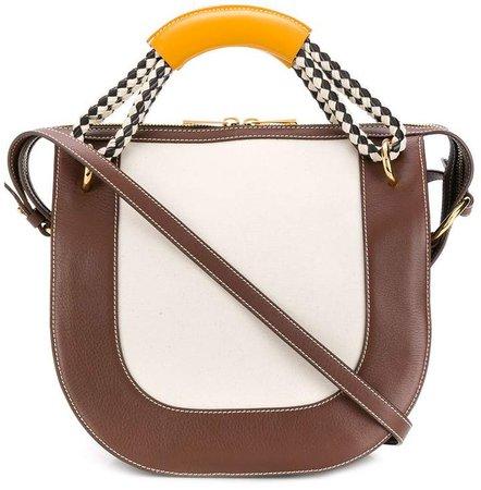 Bonnie diamond-pattern handle handbag